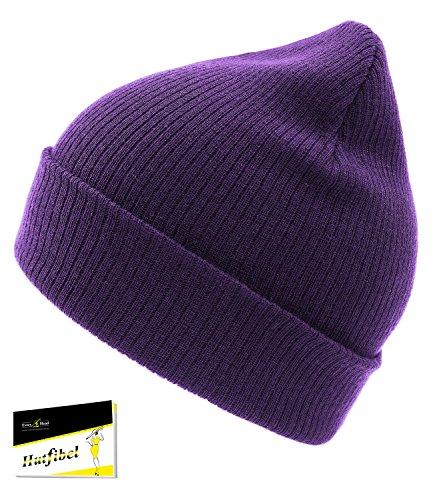 Sombrero De Beanie Púrpura Para Hutfibel Uni HE0 Gorro Con Hombres Everyhead Hombre 461 incl Forma LS W16 EH Acanalado Punto EveryHead Largo Invierno Oversized CB Forro 65xYn4wqt