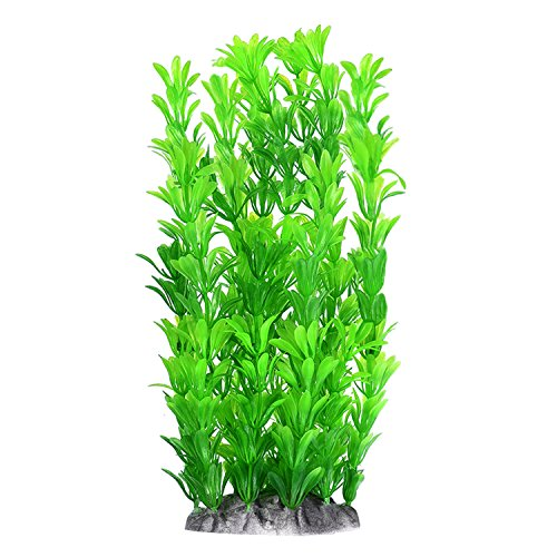 Mudder Fish Tank Artificial Plants Aquarium Decoration 10 Inch, Green ()