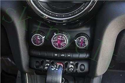 Centre Dashboard Button Panel Hatch Dash Air Conditioner Volume Button Cover Sticker Trim for Mini Cooper F55 Hardtop F56 Hatchback F57 Covertible (14)
