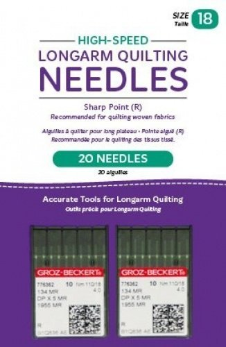 Handi Quilter Longarm Quilting Needles - High-Speed Sharp Point (R) Size 18 (Pack of 20)