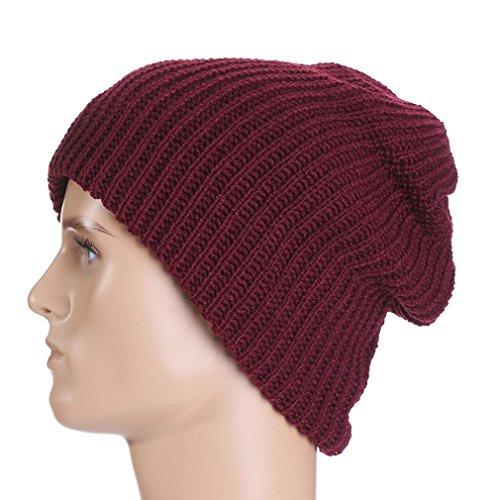 Mode Rayures Extérieur Pour Chapeau Bonnet Hiver Femme Chaud Unisexe Acvip Homme Rouge Tricoté dwqXZpH