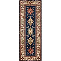 RUGGABLE Noor Sapphire Washable Indoor/Outdoor Stain Resistant 2.5x7 (30x84) Runner Rug 2pc Set (Cover Pad)
