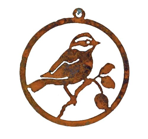 Black-Capped Chickadee Rusty Ornament