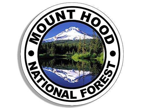 American Vinyl Round Mount Hood National Forest Sticker (Travel rv Oregon Hike) (Best Hikes In Mount Hood National Forest)