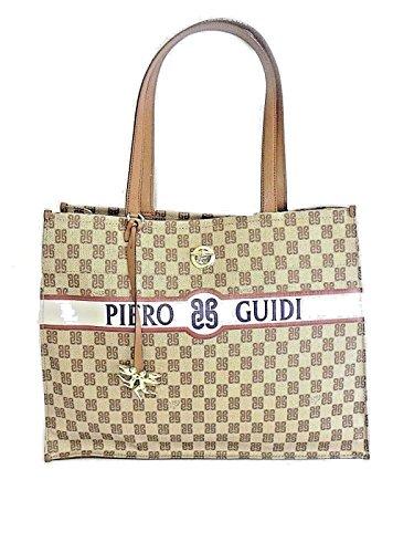 BORSA PIERO GUIDI PG MONOGRAMMA SHOPPING BAG 6101G3088 11