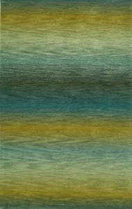 Ombre Ocean Stripes Rug Rug Size: 5u0027 X 8u0027