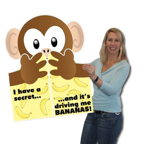 2'x3' Giant Monkey Hug Greeting Card, W/Envelope - Valentines Day Card