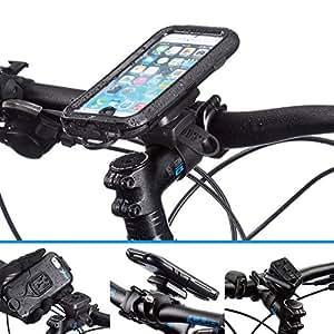 UltimateAddons–Resistente al agua ciclismo funda para Apple iPhone 66S 4.7Con varias opciones de accesorio de montaje, metal, Helix Locking Strap 21-40mm
