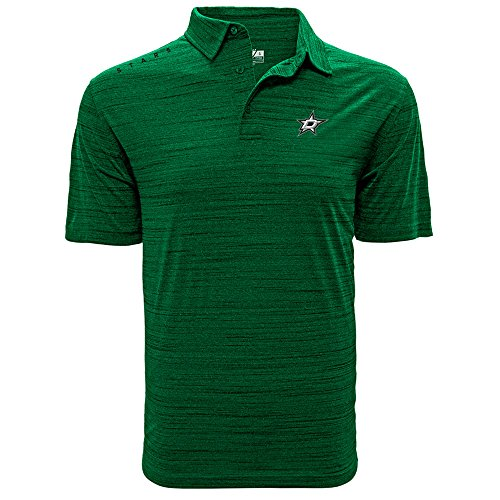 NHL Dallas Stars Men's Sway Wordmark Polo, X-Large, Heather Rider - Polo Dallas Store
