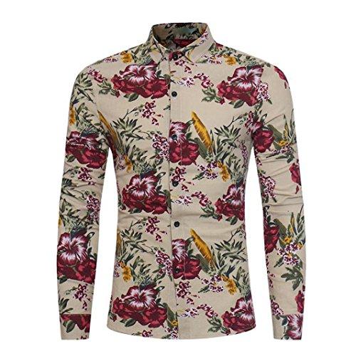 Bouton Décontracté Crazy Haute Slim Manche Aimee7 Kaki Qualité Floral Fit Shirt Sales Hawaiennes Casual Business Hauts Élégant Chemises Imprimé À Longues Affaires Homme vdf8axq