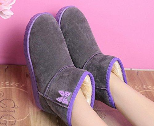 arco 120W botas cilindro bajas estudiantes caramelo NSXZ engrosamiento gruesas nieve encanto femeninas botas color de de algodón del botas de zapatos color de wqxUfYB