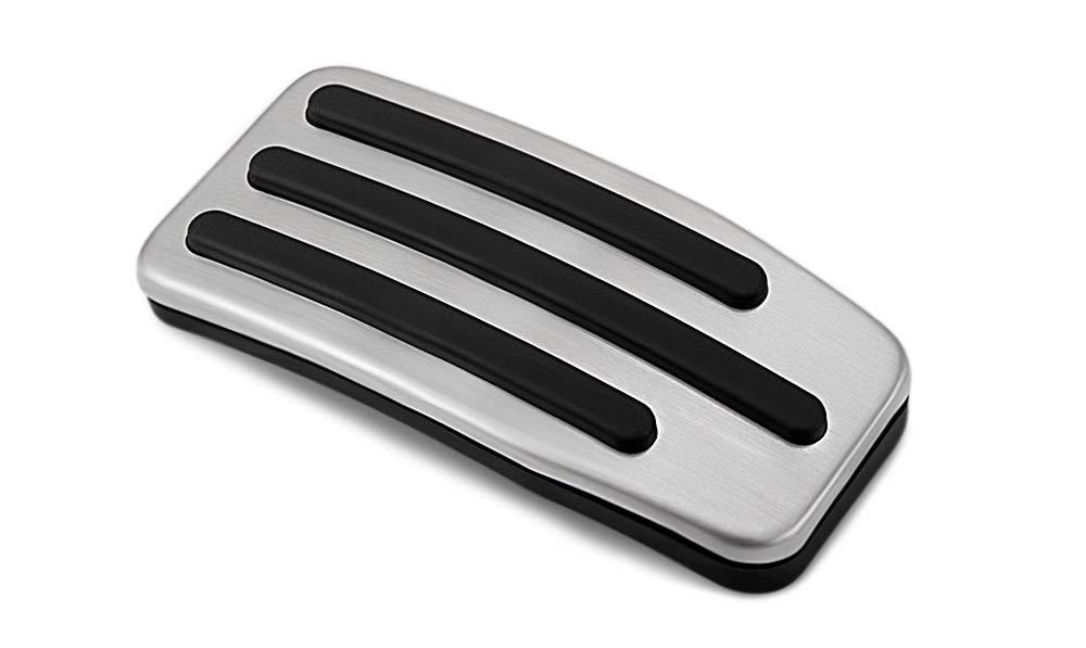 RaxTDM Non-Slip Performance Foot Pedal Pads,Auto Aluminum Pedal Covers fit Tesla Model 3