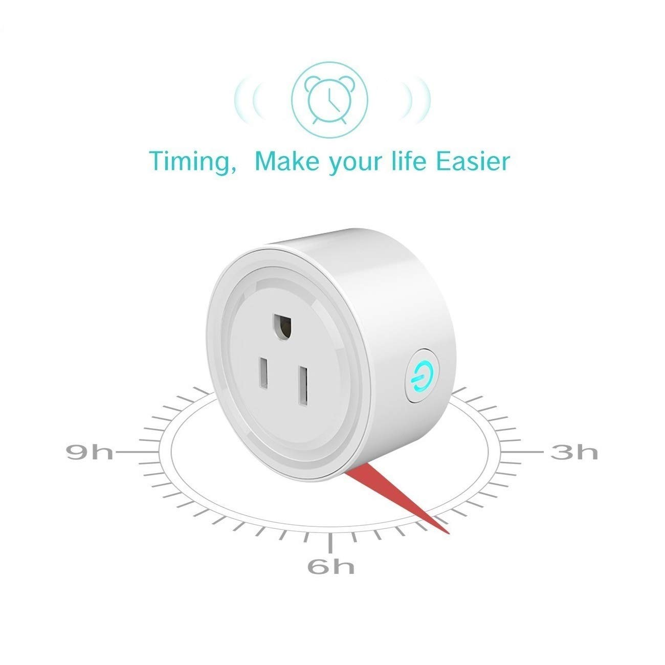 Mini Smart Socket Wifi Plug US Work with Alexa Echo Dot Voice Control No Hub Required Timing Function (2 Pack) by EVO-SMART (Image #6)