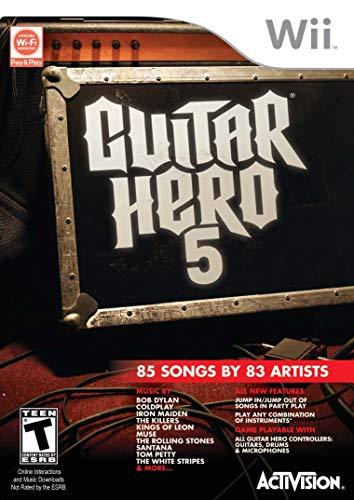 Guitar Hero 5 – Nintendo Wii (Game only) (Renewed)