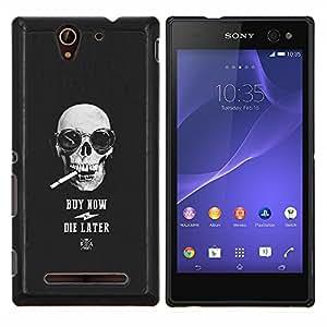 LECELL--Funda protectora / Cubierta / Piel For Sony Xperia C3 -- Compre Ahora Die tarde cráneo fresco Compras --