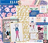#7: Elle Oh Elle 12x12 Scrapbook Page Kit, Gold Foil, Bossy Lady, Anime, Planners, Cards, Photo Albums.