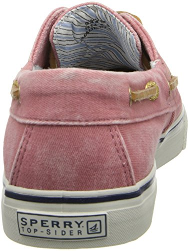 Sperry Top-sider Womens Bahama Canvas Slip-on Mocassino Lavato Rosso