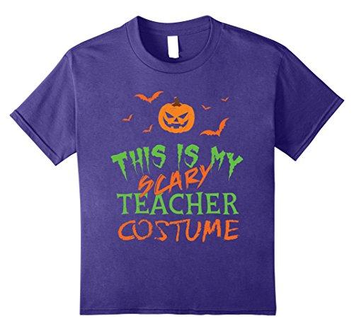 Costumes For Teachers Ideas (Kids Halloween Teacher Shirt | Funny Costume T Shirt Gift Idea 8 Purple)