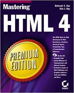 Mastering HTML 4 Premium Edition