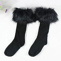 Womens Girls Over The Knee Socks Knit Thigh High Long Cotton Stockings Leggings
