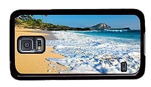 Hipster Samsung Galaxy S5 Case sparkle cover ohau beach hawaii PC Black for Samsung S5