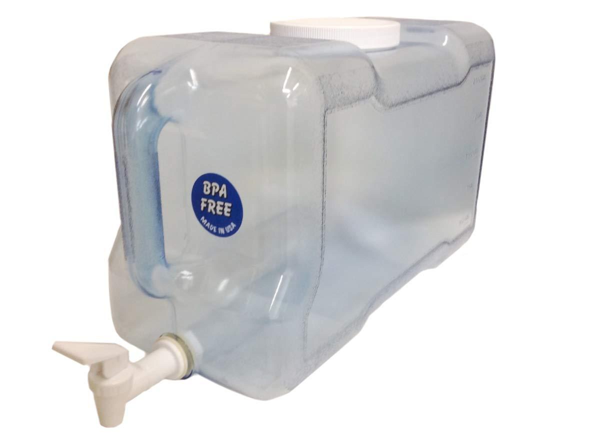 AquaNation BPAフリー 再利用可能 FDA承認 食品グレード 安全 トライタン 漏れ防止 プラスチック ウォーターボトル スピゴット ガロン 容器 ハンドル 米国製 B07JLKS6D7 3 Gallon Dispenser