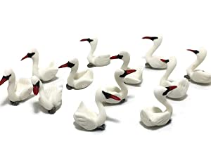 Mr_air_thai_Miniature Lot 12 Miniature Duck Goose Fairy Garden Supplies Animal Swan Figurine Furniture Dollhouse GD#027