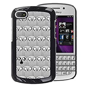 A-type Arte & diseño plástico duro Fundas Cover Cubre Hard Case Cover para BlackBerry Q10 (Puppy Cartoon Pattern Comic Character)
