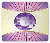 Ambesonne Amethyst Mouse Pad, Luxury Jewellery Amethyst Gemstone Design as Expensive Cut Stone