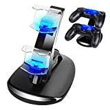 PS4 Controller Charger - CPPSLEE Playstation 4 / PS4 / PS4 Pro / PS4 Slim Controller Charger Charging Docking Station Stand - Arm Bracket Clamp Desk Stand Plate