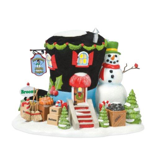 North Pole Snowman - Department 56 North Pole Village Instant Snowman Lit House