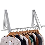 Bedee Folding Clothes Hanger Wall Mounted Drying Rack Coat Racks Aluminum Retractable Hangers for Living Room/Bathroom/Bedroom/Office to Save Space,Home Storage Organiser,Easy Installation - 2 Pack