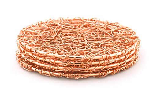 Wire Copper Coasters - Set of 4 by Alchemade ()