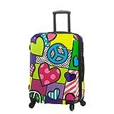 Mia Toro Peace and Love Hardside 24 Inch Luggage, Contemporary