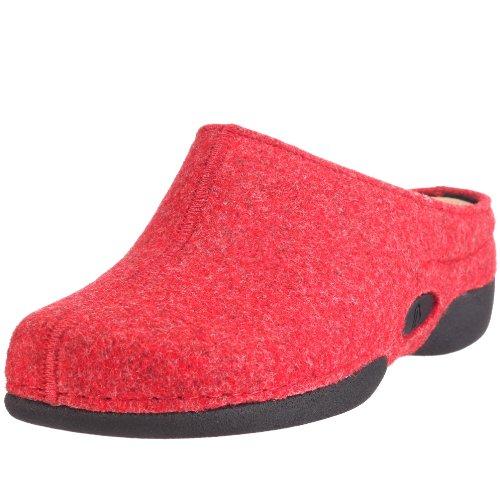 Rot para Lauren mujer de fieltro Berkemann Rot 1553 Rojo Pantuflas wv1q1Z8