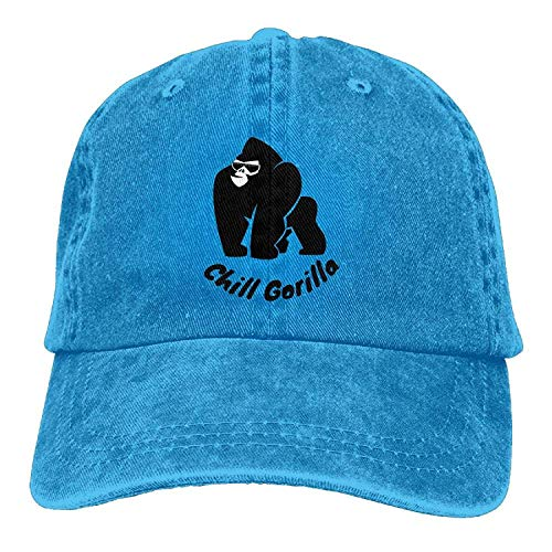 Sport Cowgirl Cap Skull Gorilla Denim Women Hat DEFFWB Cowboy Men Hats Chill for CwxA8T0Wq