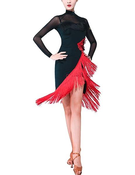 Motony Mujer Vestido de Baile Latino/Salón de Baile Danza ...