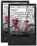 MCS 22x34 Inch Wide Scoop Poster Frame 2-Pack, Black (65702)
