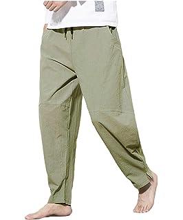 pipigo Mens Retro Lightweight Linen Shorts Short Sleeve Work Sets