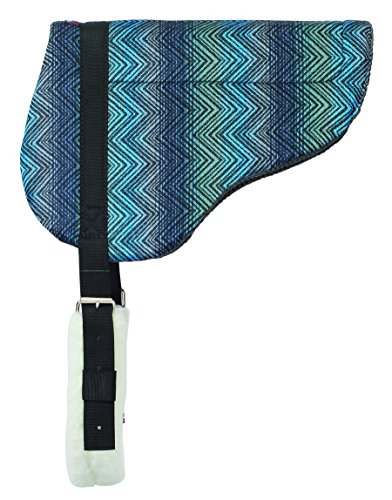 Weaver Leather Herculon Bareback Pad with Tacky-Tack Bottom, Blue