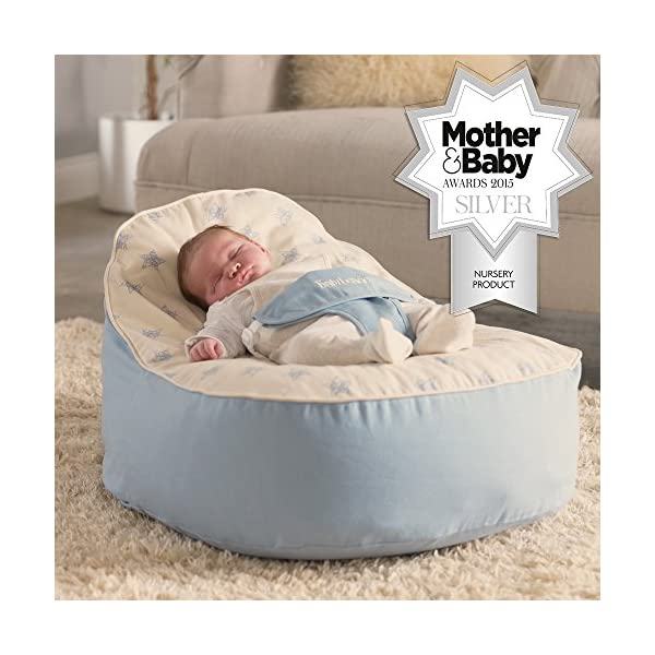 Surprising Bambeano Baby Bean Bag Support Chair Blue With Free My 1St Bean Bag Cover Ibusinesslaw Wood Chair Design Ideas Ibusinesslaworg