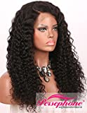 Persephone Pre Plucked 360 Lace Frontal Wig 150 Density Curly Brazilian Remy Full Lace Human Hair Wigs with Baby Hair for Black Women 12 inch Natural Color