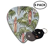 morjar Classic Guitar Pick (6 Packs) Palm and Surf Board Celluloid Guitar Picks