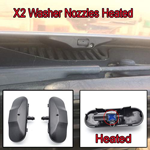 Scirocco Wiper Vw - Pair Front Windshield Washer Nozzles Jet Heated Set For VW Tiguan Amarok Scirocco Passat B6 EOS Touran Sharan Caddy Jetta Touareg Beetle Golf For Skoda Superb Yeti