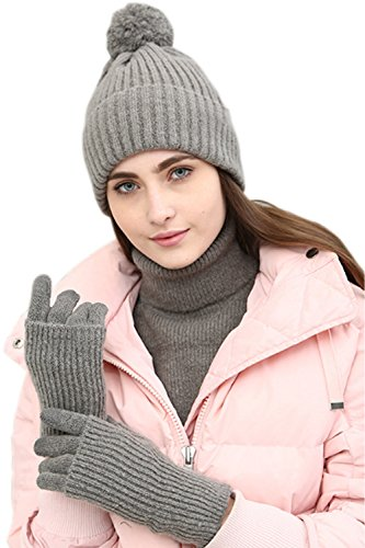 c8e597d4071 JOYEBUY Women Lady 3 PCS Knitted Set Winter Warm Knit Hat + Scarf + Touch  Screen