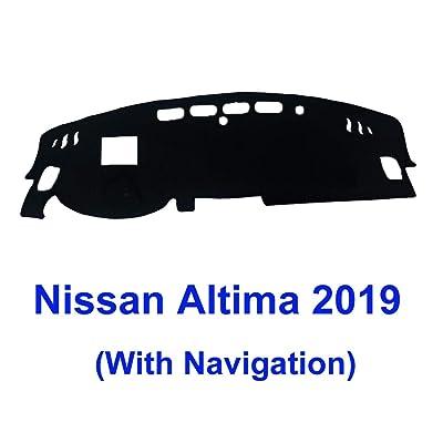 JIAKANUO Auto Car Dashboard Carpet Dash Board Cover Mat Fit Nissan Altima 2020 MR-077 (black19 .): Automotive [5Bkhe0408310]