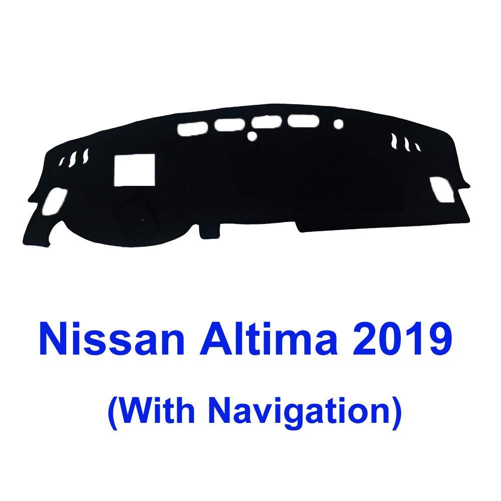 Easy Installation MR029 Original Dashboard Carpet Custom Fit for Nissan Altima 2007-2012 Black YRCP Premium Dash Covers