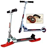 RAILZ Youth Street & Snow Scooter, more fun than sleds and snow toys, Same fun as Railz youth snow scooter but comes with wheel kit