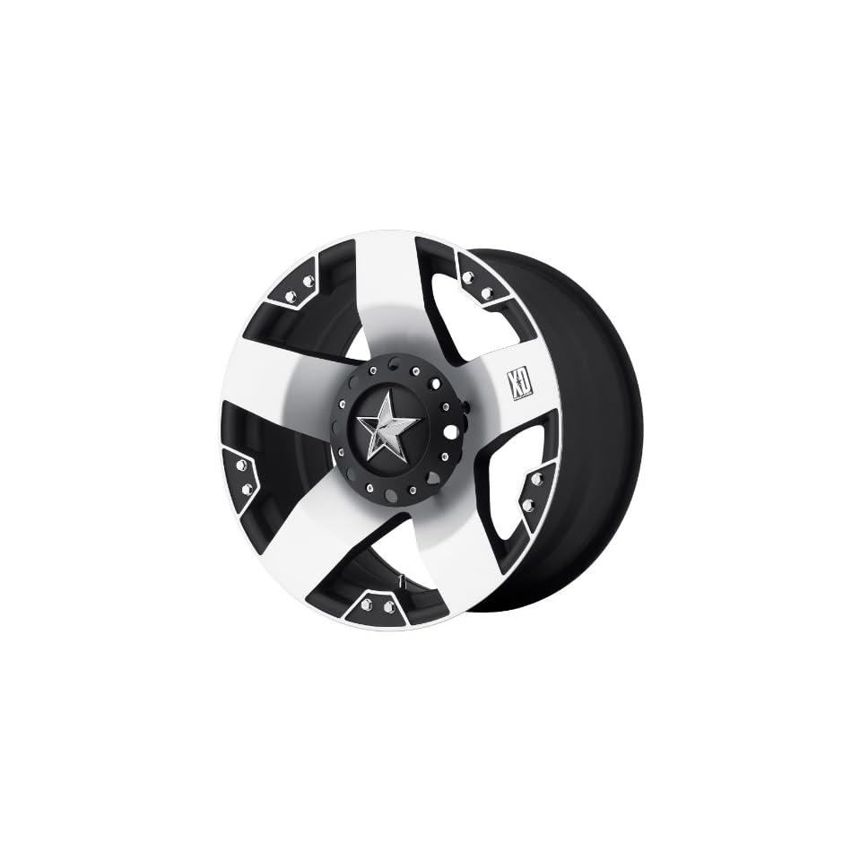 24x12 KMC XD Rockstar (Matte Black w/ Machined Face) Wheels/Rims 8x170 (XD77524287544)