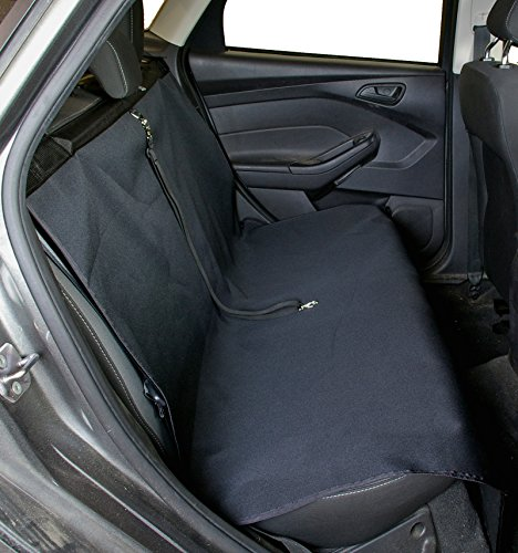 Bushwhacker – Paws n Claws 50″ Vehicle Pet Seat Protector w/ Tether Restraint – Ideal for Small to Mid-Sized Sedans – Dog Car Backseat Cover K9 Hammock Tether Leash Harness Restraint Bed Back Seat Pad Barrier Bridge Extender Lead For Sale